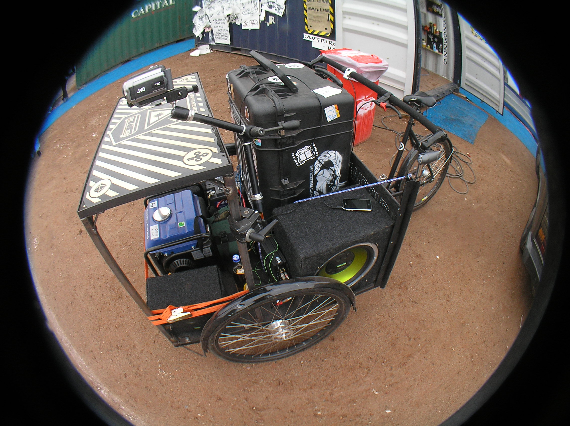 Mobile Broadcast Unit (fisheye view)